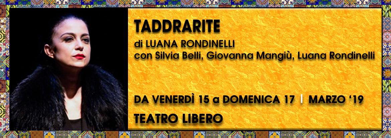 Taddrarite Pipistrelli Palco OFF Milano Teatro Libero