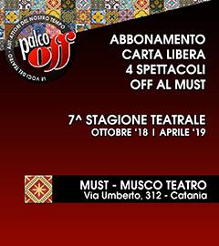 abbonamento Palco OFF Catania 4 spettacoli