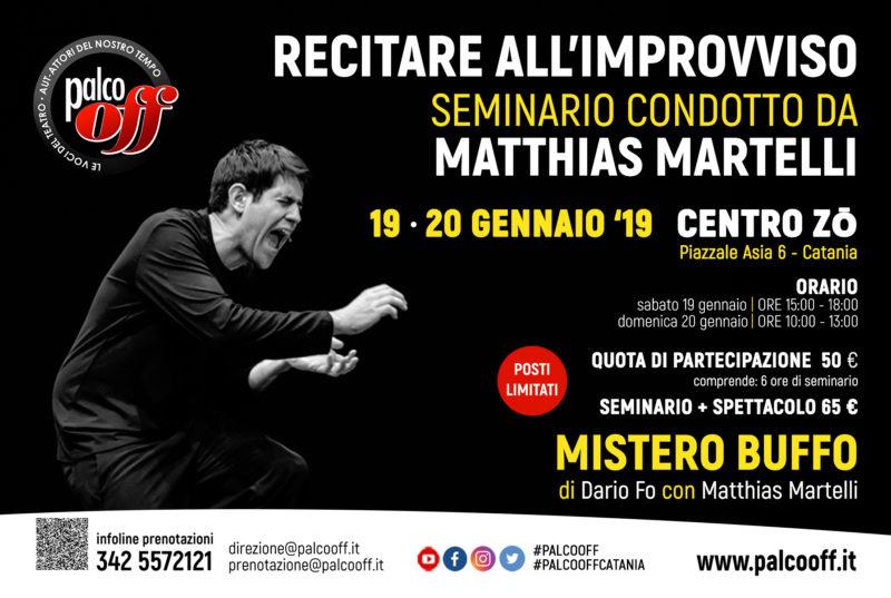 Seminario Martelli Mistero Buffo Dario Fo Palco OFF Catania